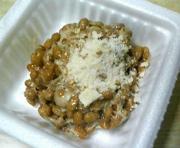 塩で食べる納豆